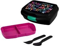 Комплект кутия и прибори за храна - Rumi: Alphabet -