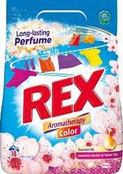 Прах за цветно пране с флорален аромат - Rex Aromatherapy Color - Разфасовка от 1.260 kg - продукт