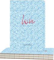 """Скицник с твърди корици - Милиони сърца - С размери 14.5 x 21 cm от серията """"Love is in the air"""""""