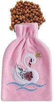 Възглавничка против колики с черешови костилки - Лебед -