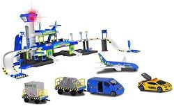 Летище - Комплект с 3 превозни средства и аксесоари -