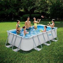 Правоъгълен сглобяем басейн - Summer Waves Elite Frame - Комплект с филтърна помпа и стълба -