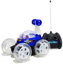 Количка акробат - Играчка с дистанционно управление и светлинни ефекти -