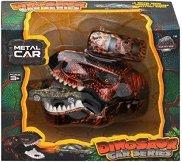 Динозавър изстрелвачка - Детски комплект за игра с метална количка - количка