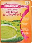 Plasmon - Крем супа с тиквички и грах - Опаковка от 180 g за бебета над 6 месеца -