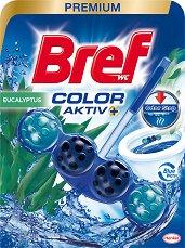 Тоалетно блокче - Bref Color Aktiv - С аромат на евкалипт - опаковка от 1 брой x 50 g -