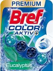 Тоалетно блокче - Bref Color Aktiv - С аромат на евкалипт - опаковки от 1 ÷ 3 броя - продукт