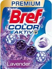 Тоалетно блокче - Bref Color Aktiv - С аромат на лавандула - опаковка от 1 брой x 50 g -