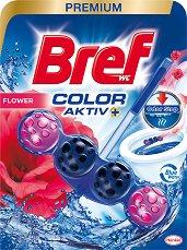 Тоалетно блокче - Bref Color Aktiv - С аромат на цветя - опаковка от 1 брой x 50 g -