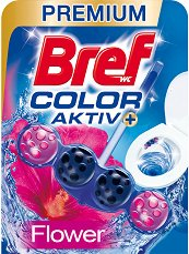 Тоалетно блокче - Bref Color Aktiv - С аромат на цветя - опаковки от 1 ÷ 3 броя - дамски превръзки