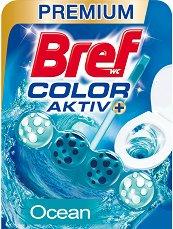 Тоалетно блокче - Bref Color Aktiv - С аромат на океан - опаковка от 1 брой x 50 g -