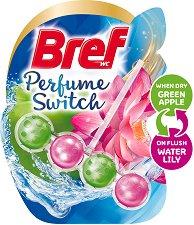 Тоалетно блокче - Bref Perfume Switch - Със сменящ се аромат на ябълка и лилия - опаковки от 1 ÷ 3 броя - продукт