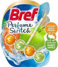 Тоалетно блокче - Bref Perfume Switch - Със сменящ се аромат на праскова и ябълка - опаковки от 1 ÷ 3 броя - продукт