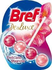 Тоалетно блокче - Bref Deluxe - С аромат на магнолия - опаковка от 1 брой x 50 g -