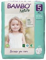 Bambo Nature 5 - XL - Еко пелени за еднократна употреба за бебета с тегло от 12 до 18 kg -