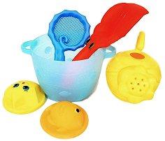 Кофичка за игра с пясък - Детски комплект за игра с аксесоари -