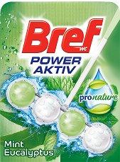 Тоалетно блокче - Bref Power Aktiv - С аромат на мента и евкалипт - опаковка от 1 брой x 50 g - продукт