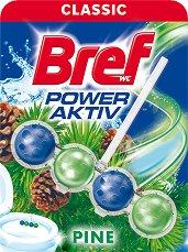 Тоалетно блокче - Bref Power Aktiv - С аромат на борова гора - опаковка от 1 брой x 50 g - продукт