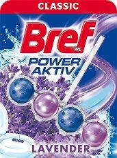 Тоалетно блокче - Bref Power Aktiv - С аромат на лавандула - опаковка от 1 брой x 50 g - продукт