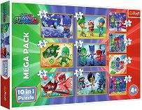 PJ Masks - Mega Pack - 10 пъзела - играчка