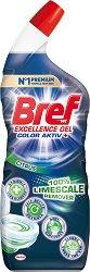 Дезинфекциращ гел за тоалетна против варовик - Bref 10X Effect Power Gel - Разфасовка от 0.700 l -