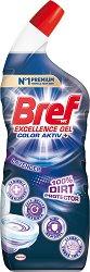 Почистващ гел за тоалетна - Bref 10X Effect Power Gel - Разфасовка от 0.700 l - продукт