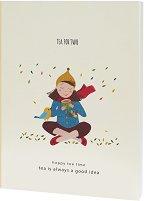 """Скицник с меки корици - Tea for two - С размери 19 x 26 cm от серията """"Happy tea time"""""""