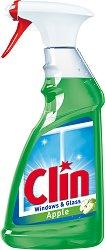 Почистващ препарат за стъкло с аромат на ябълка - Clin -