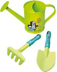 Градински инструменти - Комплект лейка, лопатка и гребло -