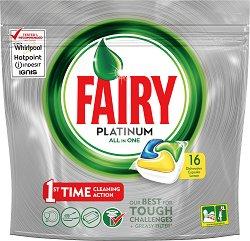 Капсули за съдомиялна - Fairy Platinum - Опаковки от 16 ÷ 66 броя - продукт