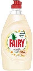 Препарат за миене на съдове с аромат на лайка - Fairy Sensitive -