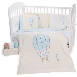 Бебешки спален комплект от 6 части - Puppy on Balloon -