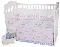 Бебешки спален комплект от 3 части - Better Together EU Stile - 100% ранфорс за легла с размери 60 x 120 cm или 70 x 140 cm -