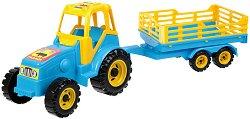 Трактор с ремарке - Играчка за пясък - играчка