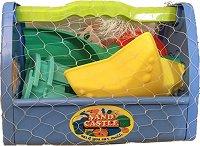 Куфарче с формички за пясък - играчка