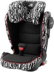 """Детско столче за кола - Kidfix III M: Letter Design - С """"Isofix"""" система за деца от 15 до 36 kg -"""