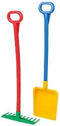 Лопата и гребло - Комплект детски играчки -