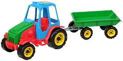 Трактор  с ремарке - Детски комплект за игра - кукла