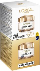 L'Oreal Age Specialist 65+ Duo Pack - мокри кърпички