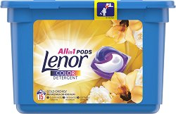 Капсули за пране за цветни тъкани с елегантен аромат - Lenor All in 1 Pods Gold Orchid -