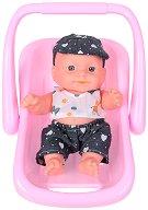 Бебе в кошче за кола  - Детски комплект за игра -