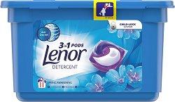 Капсули за пране за бели тъкани с флорален аромат - Lenor 3 in 1 Pods Spring Awakening -