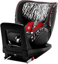 """Детско столче за кола - Dualfix i-Size: Letter Design - За """"Isofix"""" система и деца от 0 месеца до 18 kg - пюре"""