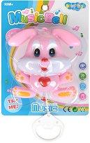 Зайче - Бебешка музикална играчка за легло -
