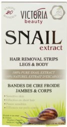 Victoria Beauty Snail Extract Hair Removal Strips Legs & Body - Депилиращи ленти за тяло с екстракт от охлюв -