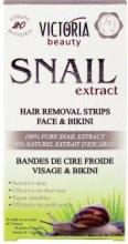 Victoria Beauty Snail Extract Hair Removal Strips Face & Bikini - Депилиращи ленти за лице и бикини зона с екстракт от охлюв - серум