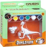 "Декорирай сам пластмасова фигура - Галимимус - Творчески комплект от серията ""Dinosaur World"" -"