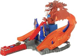 Писта с изстрелвачка - Дракон - Детски комплект за игра с количка - играчка