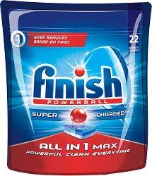 Таблетки за съдомиялна - Finish All in 1 Max - Разфасовки от 22 ÷ 94 броя -