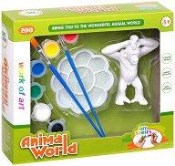 """Декорирай сам пластмасова фигура - Маймуна - Творчески комплект от серията """"Animal World"""" -"""